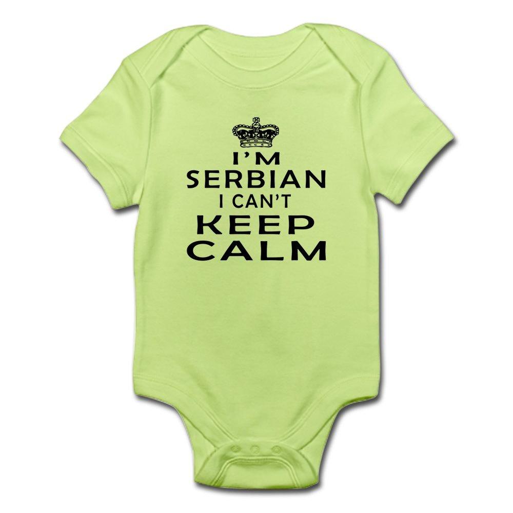 Cute Infant Bodysuit Baby Romper CafePress I Am Serbian I Can Not Keep Calm