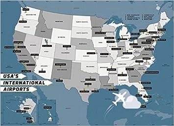 Amazon.: USA International Airport Map (36