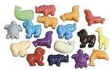 School Smart Animal Pony Plastic Bead Mix – 1/2 Pound – Assorted Colors