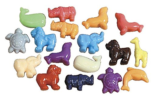 School Smart Animal Pony Plastic Bead Mix – 1/2 Pound – Assorted Colors Animal Shaped Beads