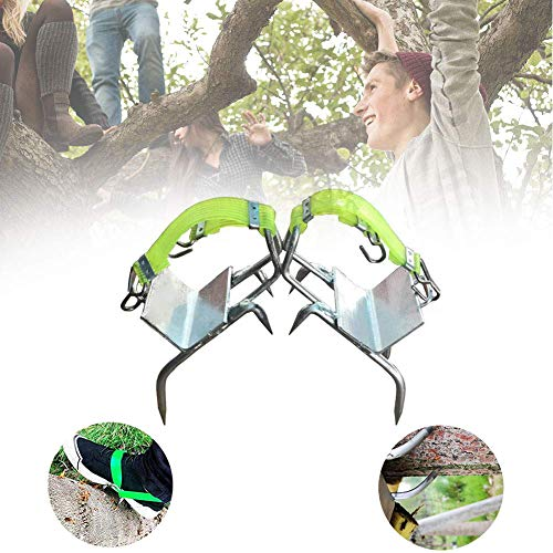 Antrixer Tree Climbing Spikes Climbing Tool Professional Sturdy Pole Stainless Steel Sharp Claws with Tied Band