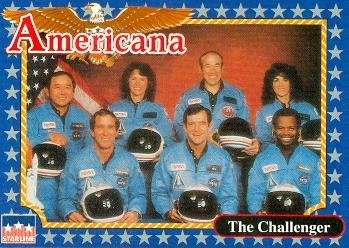Space Shuttle Challenger Crew trading card (NASA Astronauts January 28 1986) 1992 Americana History #169 from Autograph Warehouse