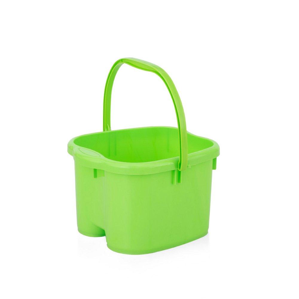 Super Kh® マッサージローラー肥厚の足浴槽は、ハンドルデザイン大トランペットとプラスチック足のバレルのホームフットバス流域を高めた * (色 : 青, サイズ さいず : M) B07K2N8K8T Green Medium Medium|Green