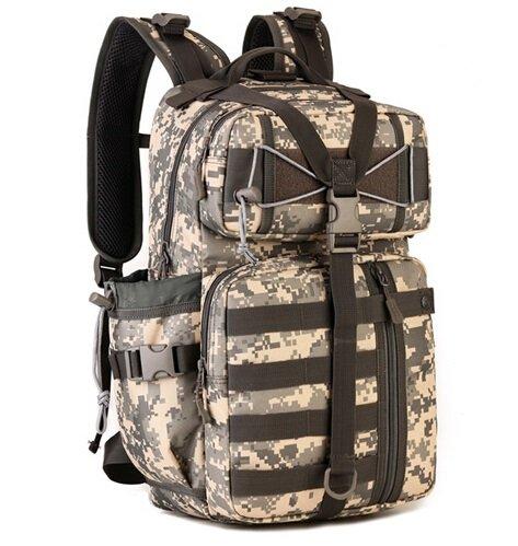 Mefly Las Tácticas De Equipo Multifunción Mochila Bolsa Bolsa Del Ejército Militar 30L Travel School Bag Pack Cp acu digital