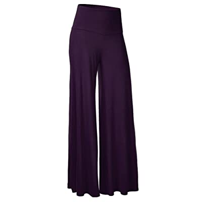 ABCWOO Womens Wide Leg Pants Stretch High Waisted Lounge Long Bell Bottom Slacks