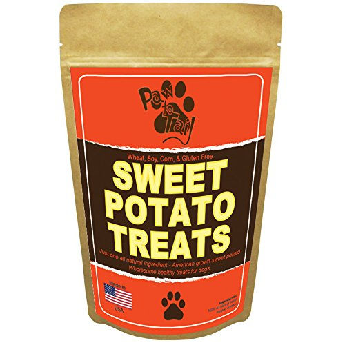 American Sweet Potato Dog Treats - Suitable Diabetic Dog Treats - Made In USA - One 100% Natural Ingriedient - Gluten Free dog Treats, No Preservatives - Just Healthy Sweet potato - 8oz Bag
