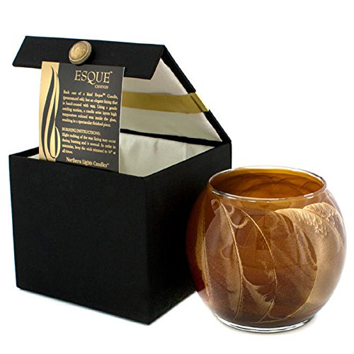 Northern Lights Candles Esque 4 Inch Mahogny Brown Globe Candle