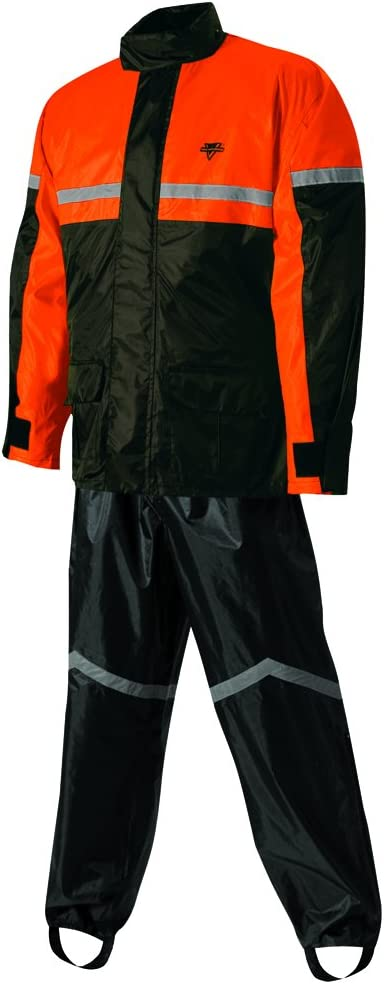 Nelson-Rigg Unisex-Adult SR-6000-ORG-02-MD Stormrider Motorcycle Rain Suit 2-Piece