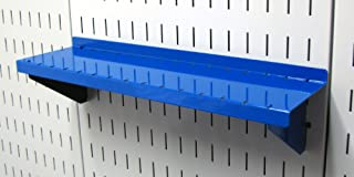 product image for Wall Control Pegboard Shelf 4in Deep Pegboard Shelf Assembly for Wall Control Pegboard and Slotted Tool Board – Blue