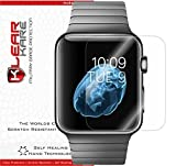 Apple Watch 38mm [6-Pack] KlearKare Screen Protector [Full Screen Coverage] + Lifetime Replacement Program / Smudge Free / Front HD Clear Film / Ultra High Definition and Anti-Bubble Invisible Shield