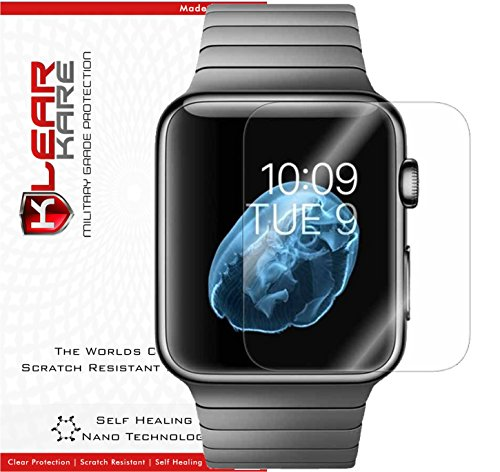 Apple Watch 42mm [6-Pack] KlearKare Screen Protector [Full Screen Coverage] + Lifetime Replacement Program / Smudge Free / Front HD Clear Film / Ultra High Definition and Anti-Bubble Invisible (Klear Apple)
