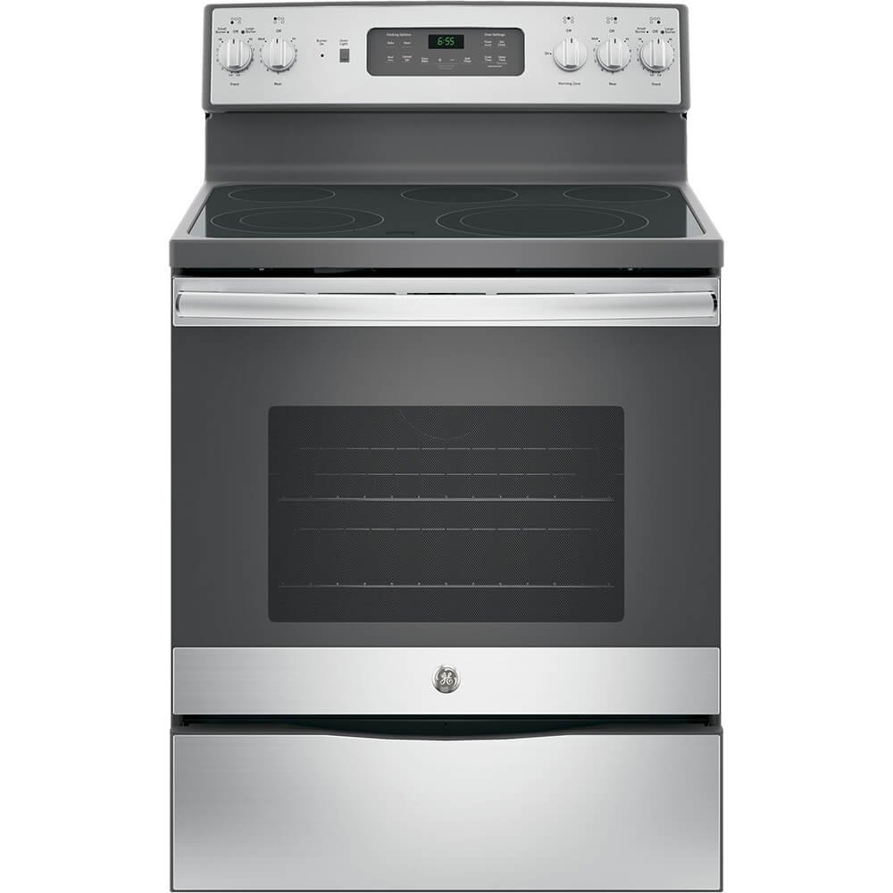 "GE JB655SKSS 30"" Stainless Steel Electric Smoothtop Range - Convection"