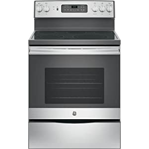 """GE JB655SKSS 30"""" Stainless Steel Electric Smoothtop Range - Convection"""