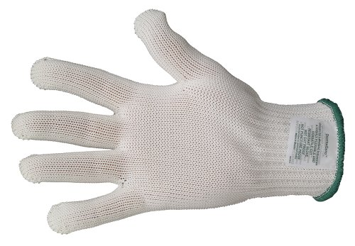 - Lakeland 9600 DextraGard Spectra Heavyweight Knit Glove with MicroGard, Cut Resistant, Large, White