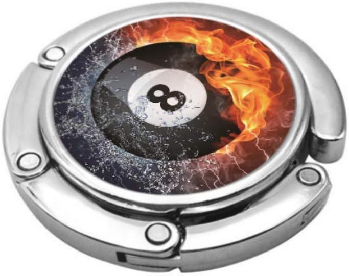 Número Ocho espíritus de Bolas de Billar en Fuego Organizador de Monedero Organizador de Cartera Sostenga el ...