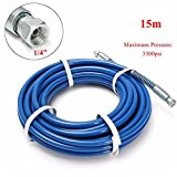 15m 3300PSI 1/4 Inch Airless Paint Spray Hose Tube For Wagner Titan Graco