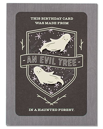 - American Greetings Funny Evil Tree Birthday Card with Foil