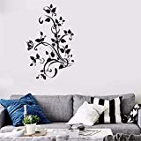 Funny-mural Quotes Vinyl Wall Art Decals Saying Words Removable Lettering Butterfly Flower Vines Decoration Stickers for Nursery Kid Bedroom