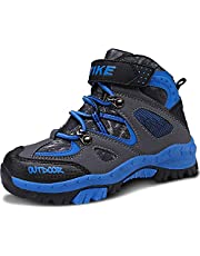 ASHION Chaussures de randonnée garçon Montantes Fille Trekking Baskets Chaussures de Sport