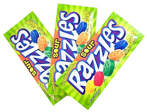 Razzles Sour - Sour Fruit Razzles Candy, 1.4 Ounce, Pack of 3