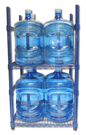 Zephyr Fluid Solutions 5 Gallon Water Bottle Storage Rack with 8 Bottle Capacity (Water Bottle Storage 5 Gallon compare prices)