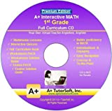 Software : 1st Grade Math Full Curriculum SW CD Premium Edition (Windows PC - Video Lessons, Interactive Review, Worksheets, Tests, Grading N Tracking) - Homeschooling or Classroom