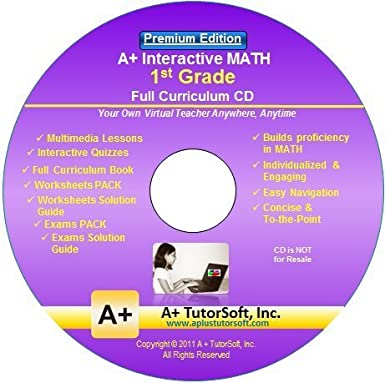 Amazon.com: 1st Grade Math Full Curriculum SW CD Premium Edition ...