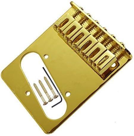Jd.Moon Gold Tele Bridge Electric Guitar Saddle Bridge Top Load For Fender Tele Replacement