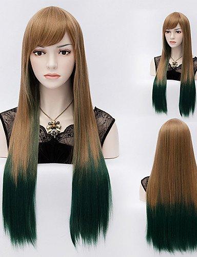 Fashion Wigstyle dritto mix color lunghi capelli lisci parrucche capelli sintetici parrucche Fashion Style sulla vendita a buon mercato