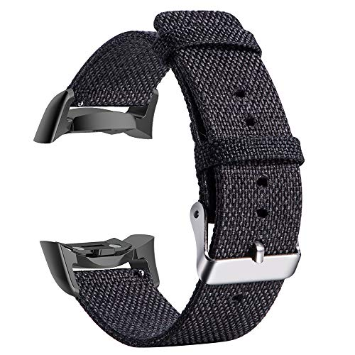 Orcbee  _Woven Fabric Watch Band for Samsung Gear S2 SM-R720 / SM-R730 with Adapter (Black)