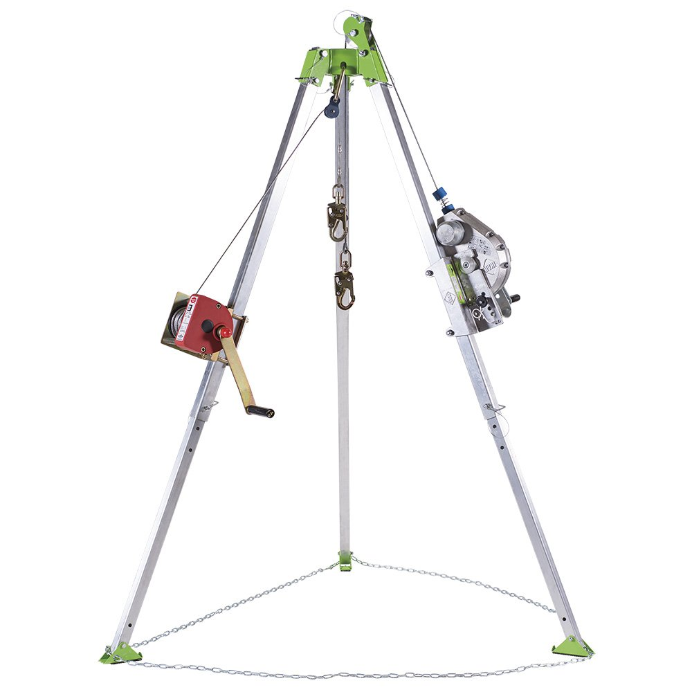PeakWorks V85026 - Tripod, 3-Way 60' (18 m) Self Retracting Lifeline, 65' (20 m) Man Winch and Bag - Confined Space Kit 3-Way 60' (18 m) Self Retracting Lifeline 65' (20 m) Man Winch and Bag - Confined Space Kit