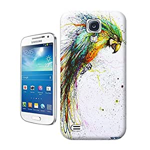 Unique Phone Case Illustration art Chinese graffiti artist and painter Hua Tunan creates a laughing parrot out of splatters Hard Cover for samsung galaxy s4 cases-buythecase