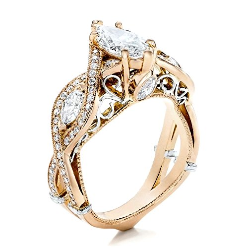 1/2 Ct Marquise Cut Ring - 8