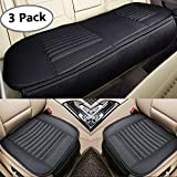Big Ant Car Seat Cushion, 2PC Front Car Seat Pad + 1PC Rear Car Seat Cover Universal Four Season Breathable Car Interior Seat Cover for Auto Supplies with PU Leather(Black)