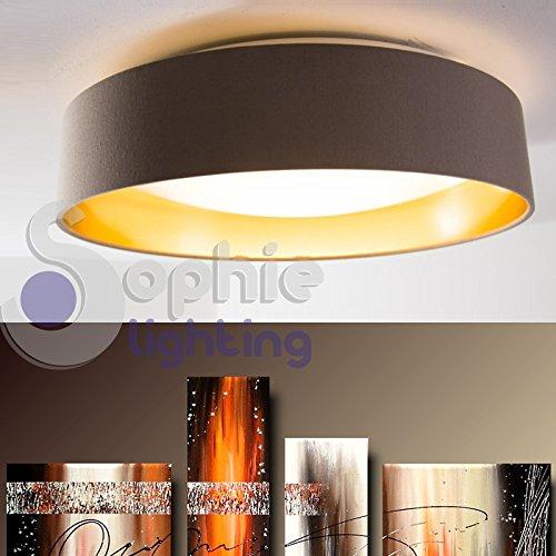 deckenleuchte kronleuchter deckenlampe led 18 w austauschbare warmes licht lampenschirm stoff grau gold rund durchmesser 405 cm modernes esszimmer kche - Deckenlampe Wohnzimmer Gold