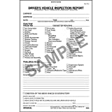 Detailed Driver Vehicle Inspection Report (DVIR), 2-Ply, Carbonless - Stock (Qty: 25 Units)