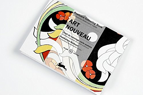 - Art Nouveau : POSTCARD COLOURING BOOK
