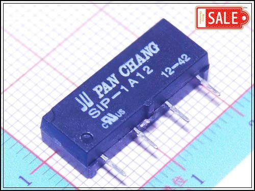 Small Batch (10Pcs/lot) SIP-1A12 12V SPST Miniature Reed Relay Switch On PCB
