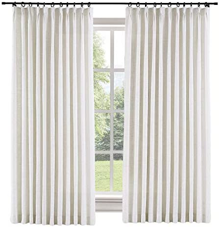ChadMade Extra Wide 120″ W x 96″ L Polyester Linen Drapes
