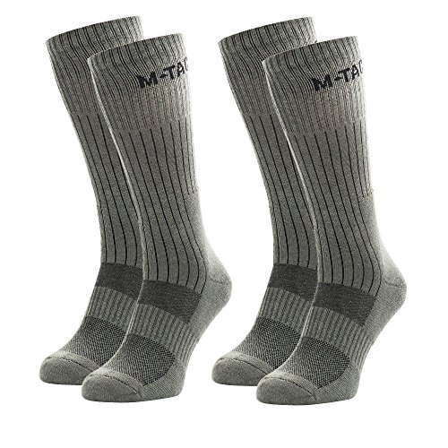 M-Tac Tactical Crew Socks Military Boot Outdoor Socks 2 Pair Pack (Olive 2 Pairs, Medium)