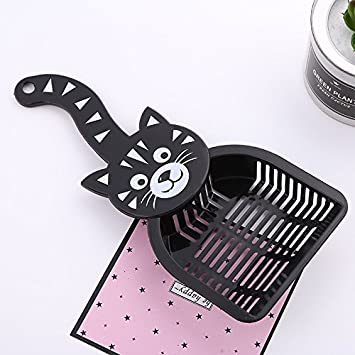 Large Metal Cat Litter Scoop Aluminum Alloy Pet Kitty Litter Scoop Durable Grip Sift Kitty Dog Pooper Scooper with Long Handle
