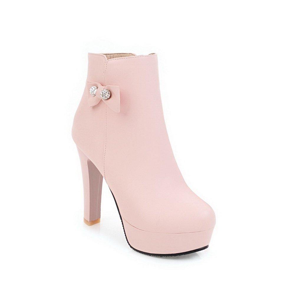 AdeeSu Womens Chunky Heels Platform Round-Toe Leather Boots Platform SXC02621 B078WVK5F9 Platform Boots 6f87f0