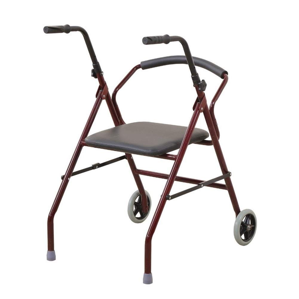 FHRX Elderly Walker Pulley with Disabled Aid Walking Can Sit Trolley Elderly Walk Walking Walker by FHRX