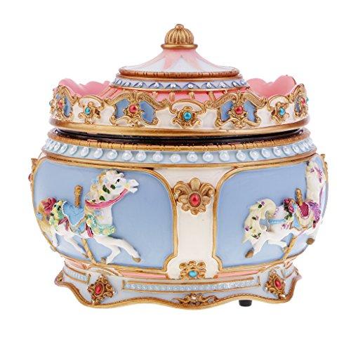Homyl 1 Pieza Caja Musical Diseño Elegante Exquisito con Patrón Carrusel - Castillo en el cielo