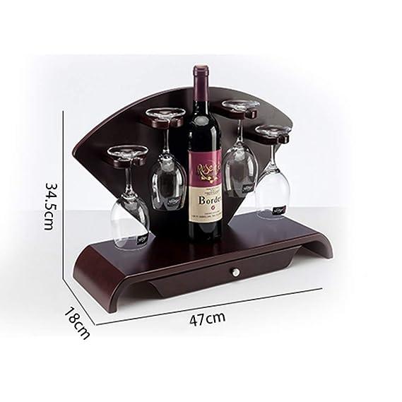 Botelleros Pollusui Artículos para el hogar Nota Musical en Forma de Dos Botellas de Vino Tinto Estante Rojo Color : Black