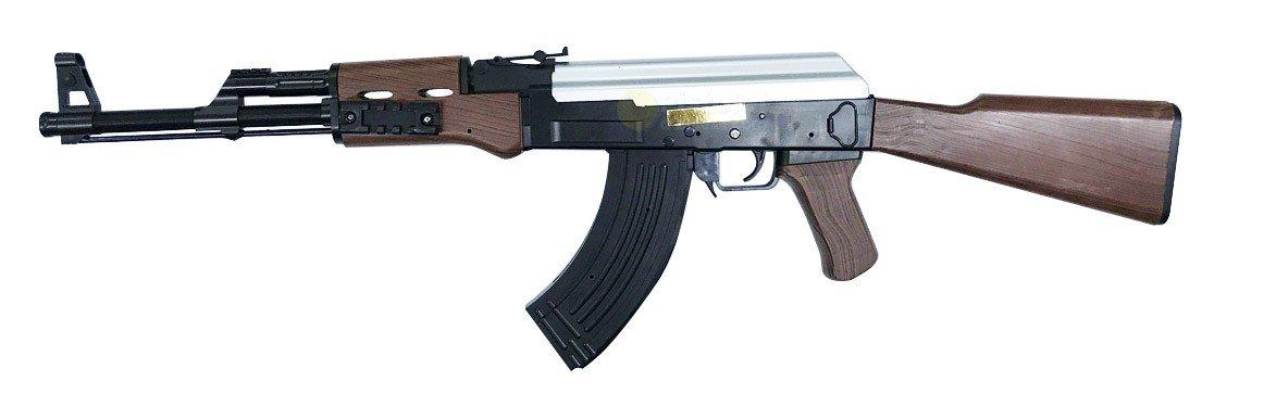 Rechargement Manuel MH 21464 fusil dassaut à billes style AK47 à Ressort ABS 0.5 joule