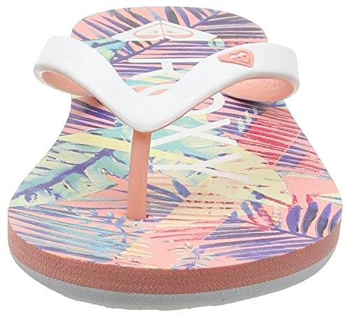Roxy ARGL100030, Chanclas Niñas Multicolor (PEACH PARFAIT/SEA)