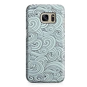 Samsung Galaxy S7Case Nautical Swirl Pattern Hard Plastic Tough Samsung Galaxy S7Cover Wrap Around