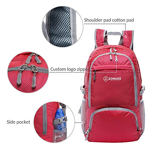 213600b1bde1 ZOMAKE 30L Lightweight Packable Backpack Water Resistant Hiking Daypack