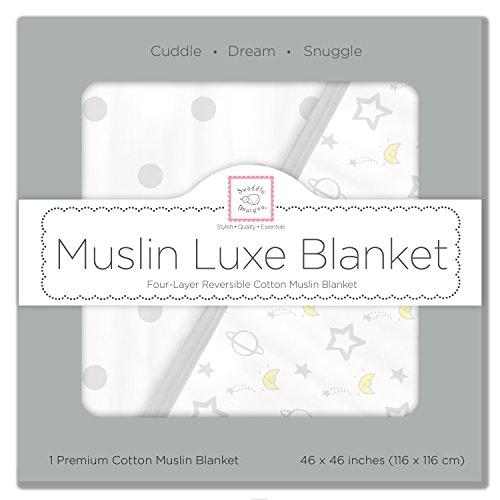 SwaddleDesigns 4 Layer Blanket Sterling Goodnight